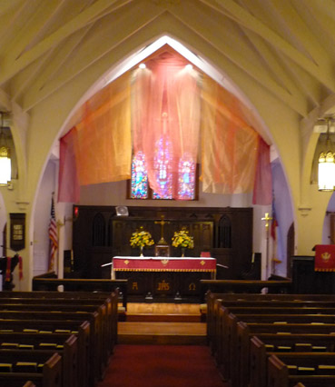 Church In Ocala Florida Below Pentecost Fabric Installation At Grace Episcopal 2017 Click On The Images To View Photos And Videos Of These